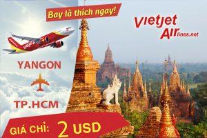 Vietjet Air : Bay thẳng giá rẻ đến Yangon, Myanmar
