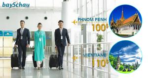 Vietnam Airlines : Biểu giá chiến thuật đi Phnom Penh, Vientiane