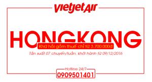 Vietjet Air : Khai trương đường bay mới Tp Hồ Chí Minh – Hongkong