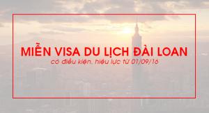 Miễn visa du lịch Đài Loan