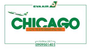 EVA Air : Khứ hồi Tp Hồ Chí Minh – Chicago chỉ 18.570.000đ