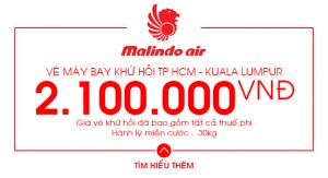 Vé máy bay khứ hồi Kuala Lumpur chỉ 2.100.000 đồng trên Malindo Air