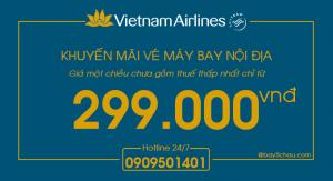 Bay nội địa trên Vietnam Airlines chỉ từ 299.000 đồng