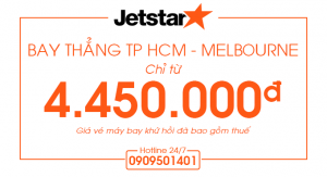 Bay thẳng TP HCM – Melbourne chỉ 4.450.000đ