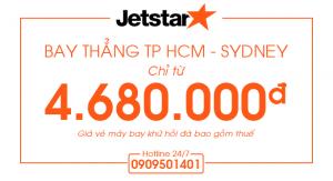 Bay thẳng TP HCM – Sydney chỉ 4.680.000đ