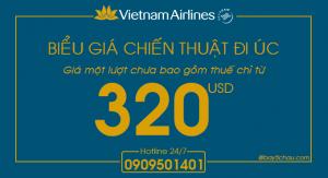 Vietnam Airlines – Biểu giá khuyến mãi Chiến thuật đi Úc