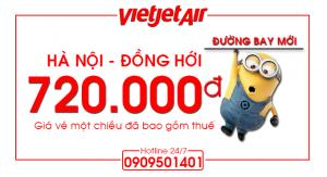 Bay Hà Nội – Đồng Hới chỉ từ 720.000 đồng