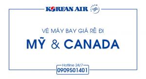 Vé máy bay khứ hồi đi Mỹ & Canada chỉ USD 521