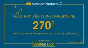 Vietnam Airlines : Giá khuyến mãi Sydney/Melbourne cho du học sinh