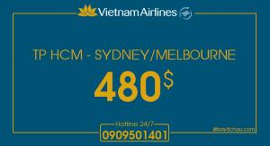 Vietnam Airlines : Khuyến mãi đi Úc