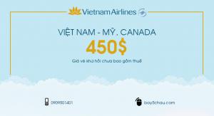 Vé máy bay giá rẻ đi Mỹ, Canada