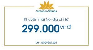 Vé máy bay nội địa chỉ từ 299.000 đồng