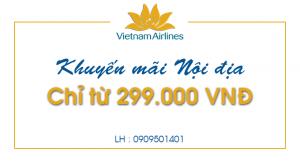 Vietnam Airlines khuyến mãi chỉ từ 299.000 đồng