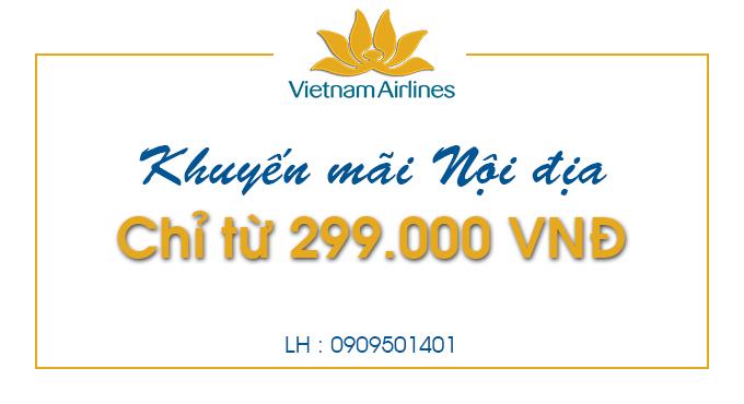 Vietnam Airlines khuyến mãi nội địa chỉ từ 299.000 đồng