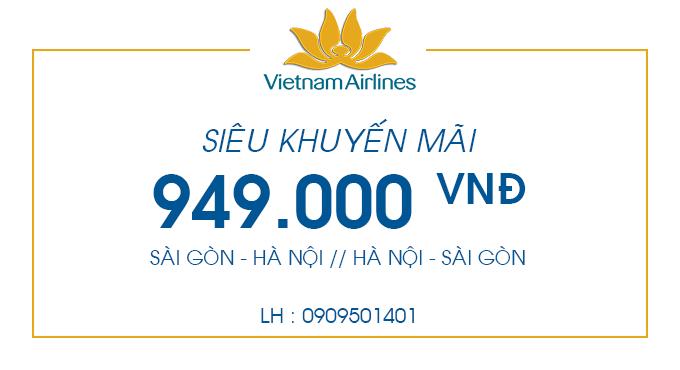Vé máy bay siêu khuyến mãi chỉ 949.000
