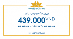 Vé máy bay Đà Nẵng – Cần Thơ chỉ 439.000 đồng