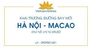 Vé máy bay giá rẻ đi Macao