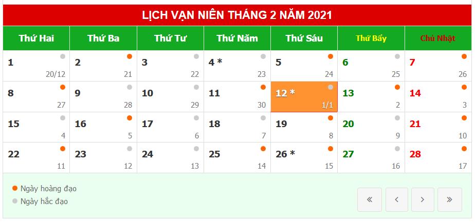 Lịch nghỉ Tết Tân Sửu 2021 - Bay Năm Châu