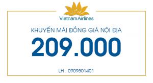 """VNA : Khuyến mãi """"Đồng giá Nội địa"""""""
