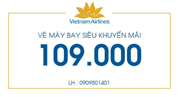 Vé máy bay siêu khuyến mãi chỉ 109.000 đồng