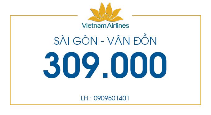 Vé máy bay giá rẻ đi Vân Đồn chỉ từ 309.000 đồng.
